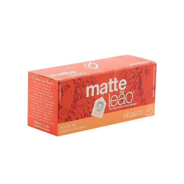 7891098000330 - CHÁ MATE COM PESSÊGO MATTE LEÃO CAIXA 40G 25 UNIDADES