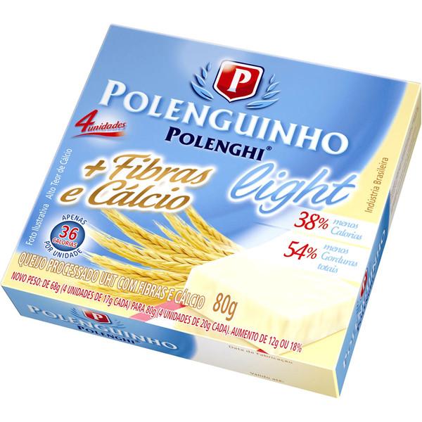7891143013438 - PROCESSADO POLENGUINHO FIBRAS E CÁLCIO LIGHT POLENGHI 80