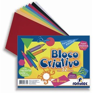 7897249567349 - ROMITEC BLOCO CRIATIVO 32 PACOTE