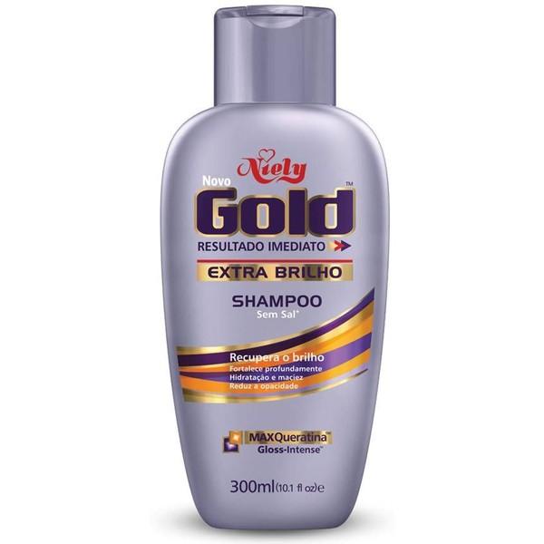 7896000715616 - SHAMPOO USO DIÁRIO NIELY GOLD 300ML EXTRA BRILHO SEM SAL UNIT