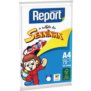 7891191001111 - PAPEL SULFITE AZUL SENNINHA SUZANO REPORT A4 100 FOLHAS