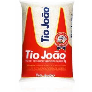 7893500020110 - ARROZ POLIDO TIPO 1 TIO JOÃO 100% GRÃOS NOBRES PACOTE 1KG
