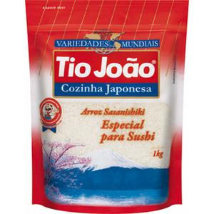 7893500019220 - ARROZ TIPO 1 SASANISHIKI COZINHA JAPONESA TIO JOÃO CAIXA 1KG