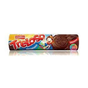7896213000189 - BISCOITO RECHEIO CHOCOLATE VITARELLA TRELOSO PACOTE 130G