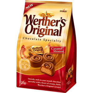 4014400912210 - WERTHER'S ORIGINAL CHOCOLATE SPECIALTY MOUSSE DE CARAMELO STORCK 125 G PACOTE